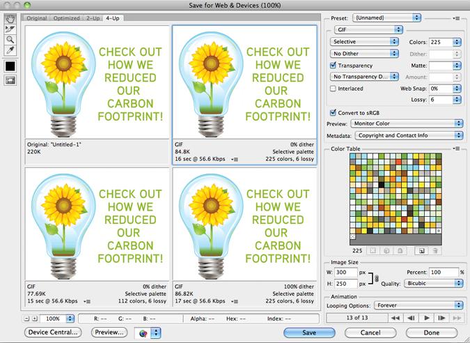 Creatiing Simple yet effective animated Gifs in photoshop