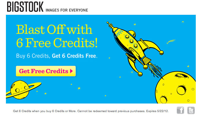 buy 6 images, get 6 images free promotion