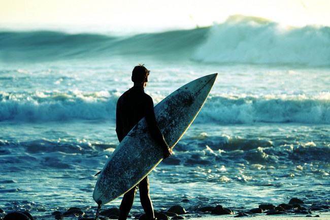 Surfer At Dusk Image ©Phase4Photography