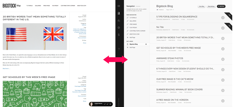 click the escape key to go back and forth between Site Manager and Preview Mode