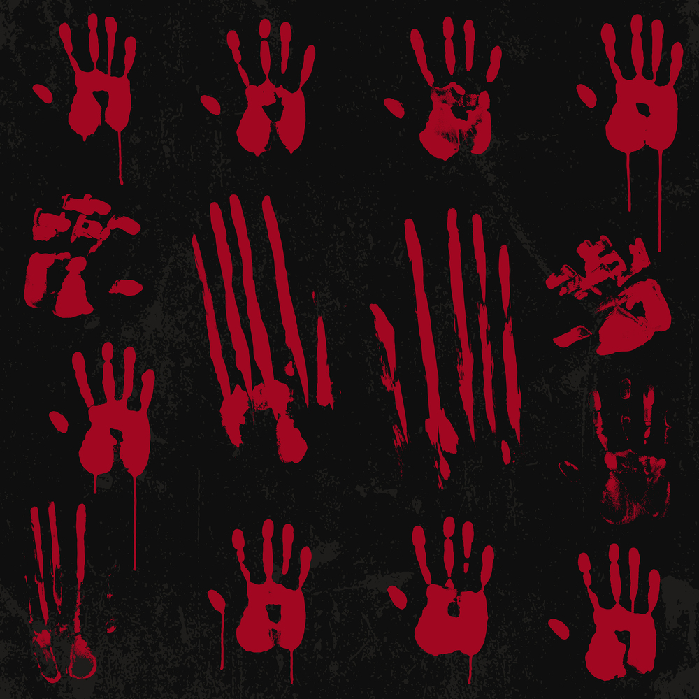 Bloody handprint vector by 13UG13th
