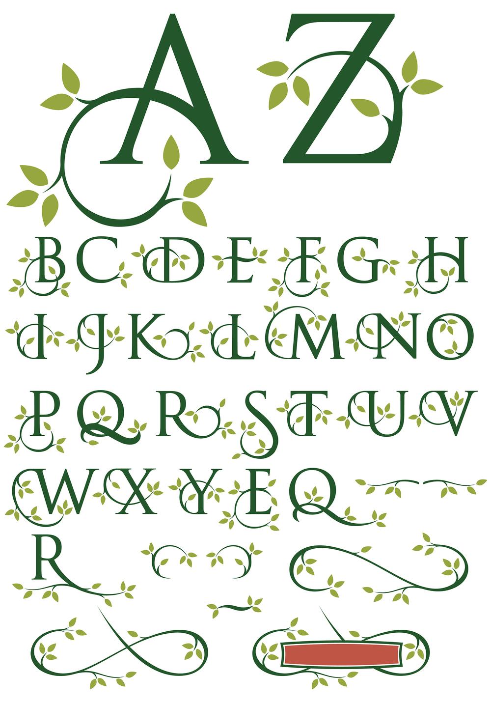 Ornate swash alphabet    Vectorhead