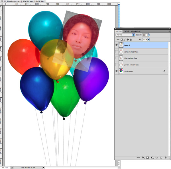 Placing photos into Round 3d surfaces