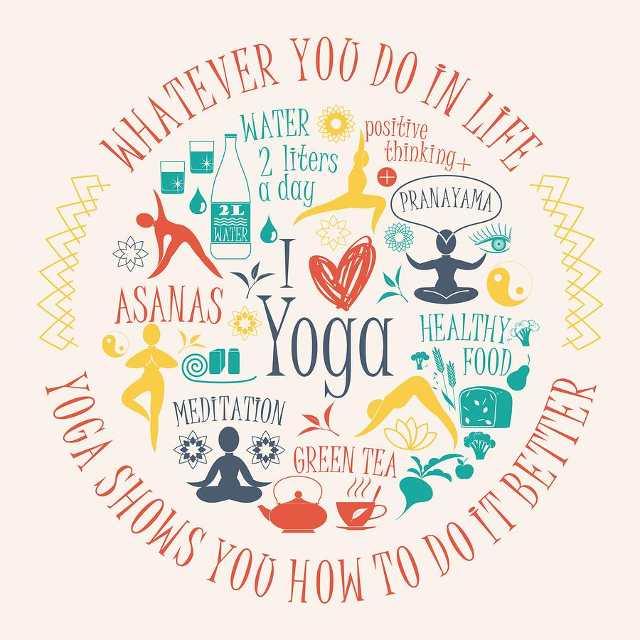Yoga lifestyle graphic |  Nadezda Grapes