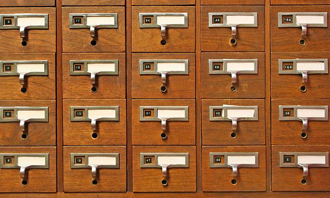 Card Catalog Stock Photo