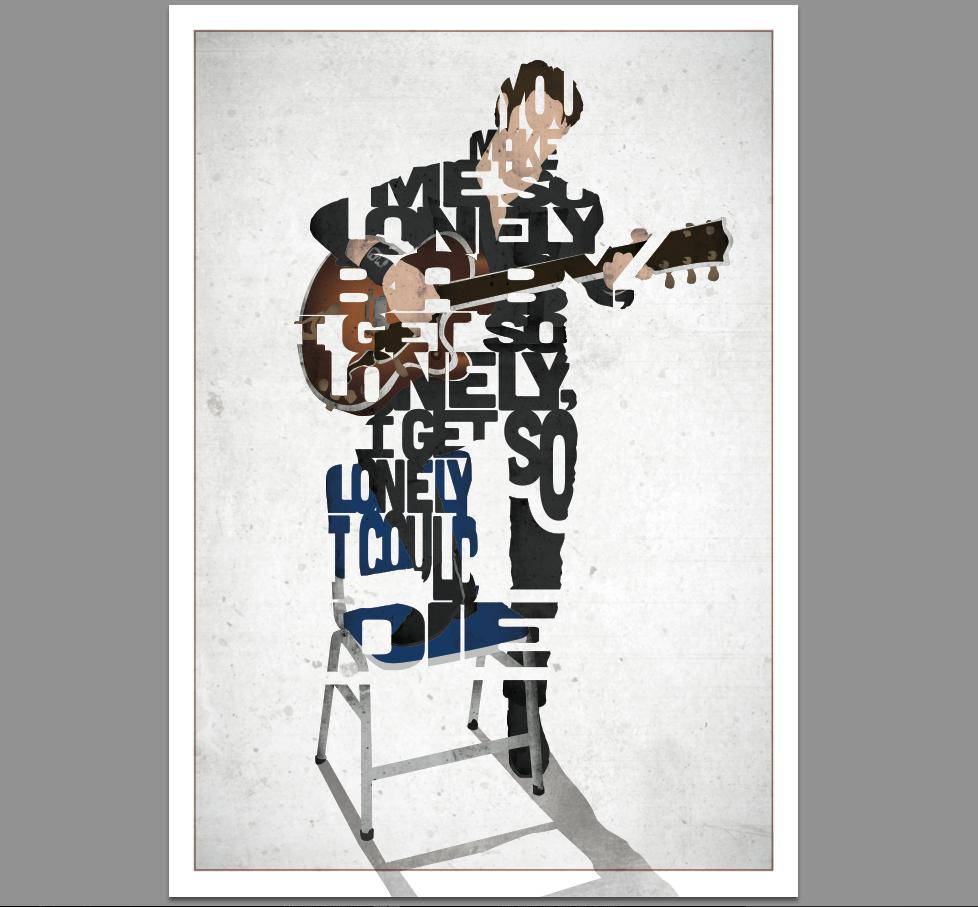 This 17th & Oak print was inspired by Elvis Presley.