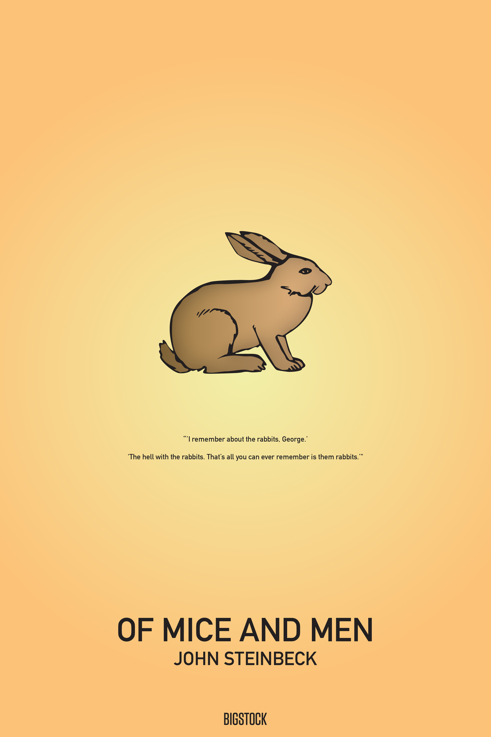 Summer Reading: Minimalist Book Covers, Of Mice and Men