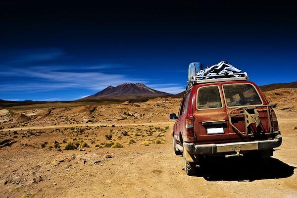 Bigstock favorites: bolivia, dramatic landscape, jeep