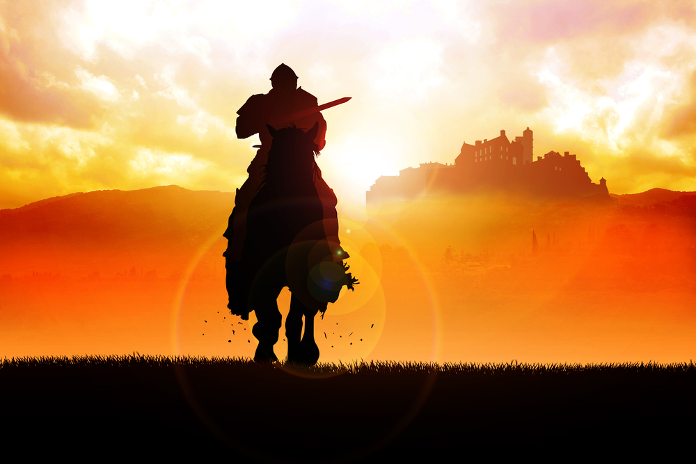 Knight Riding a Horse Image @Rudall30