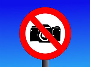 no photography sign