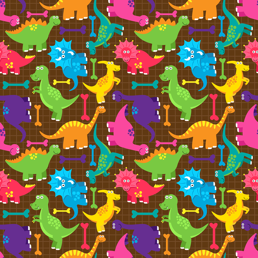 Seamless dinosaurvector background pattern