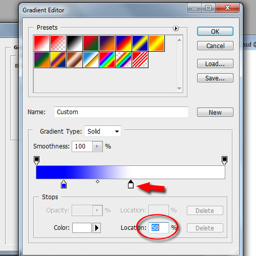 Working Inside the Gradient Editor