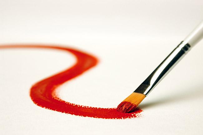 Paint brush stroke stock photo