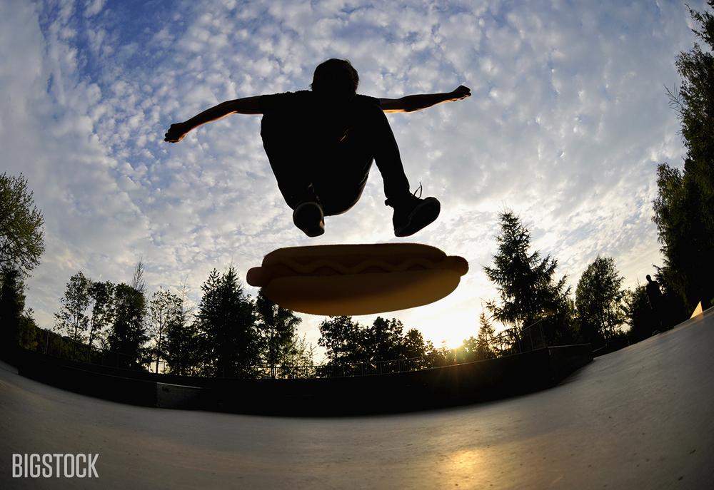 A Bun Track Mind: Loving the Hot - skateboarder