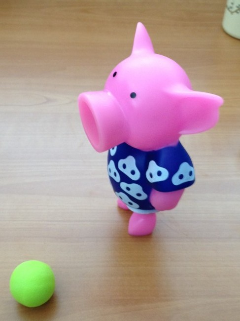 iPhone photo of toy pig.