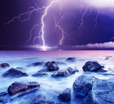 Summer Storm with Lightning Image ©Leonid Tit