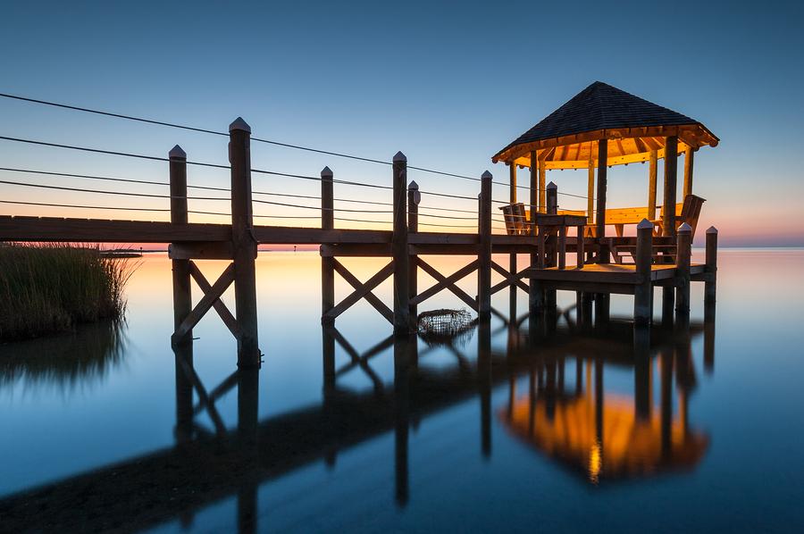 Image of North Carolina Coastal Gazebo Reflection by Mark VanDyke Photography