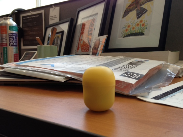 iPhone photo of yellow Kinder Surprise egg