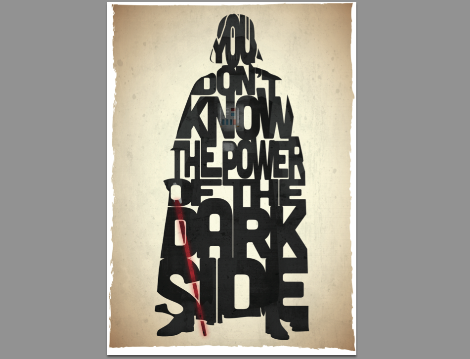 This 17th & Oak print was inspired by a quote from the film Return Of The Jedi .