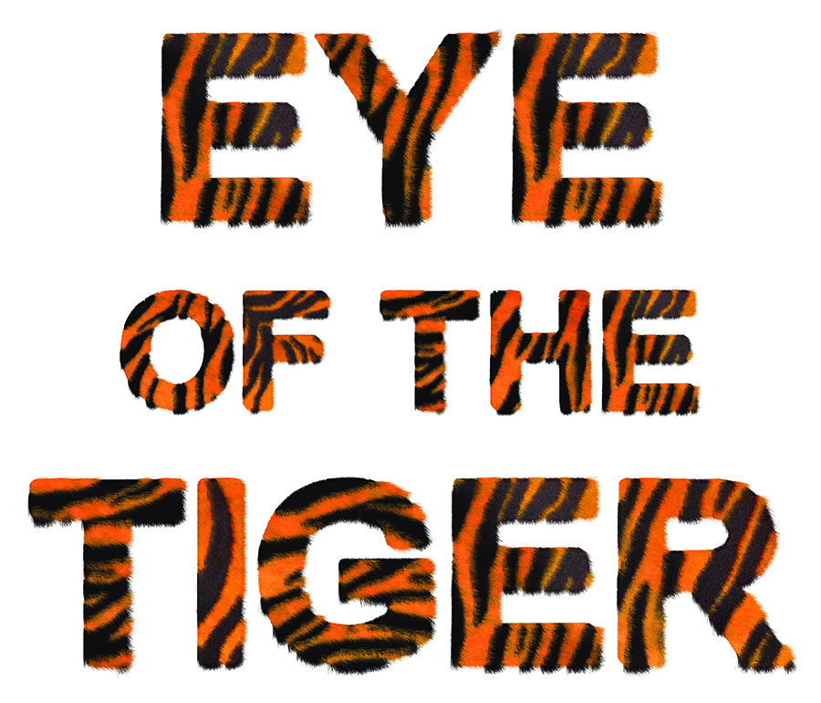 eye of the tiger typography