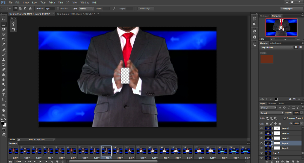 Screen shot of Photoshop Layer Mask platform.