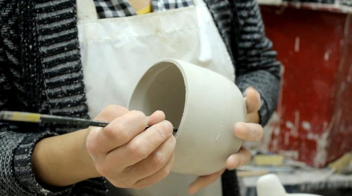 Photo of pottery maker.