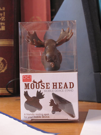 Photo of trinket moosehead for mobile device