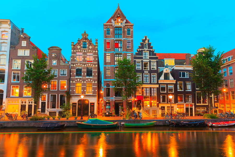 Image of Amsterdam Canal Herengracht at Night  by kavalenkava volha   Another angle of one of Amsterdam's canals - this time, at night. You can practically feel the romance in the air.