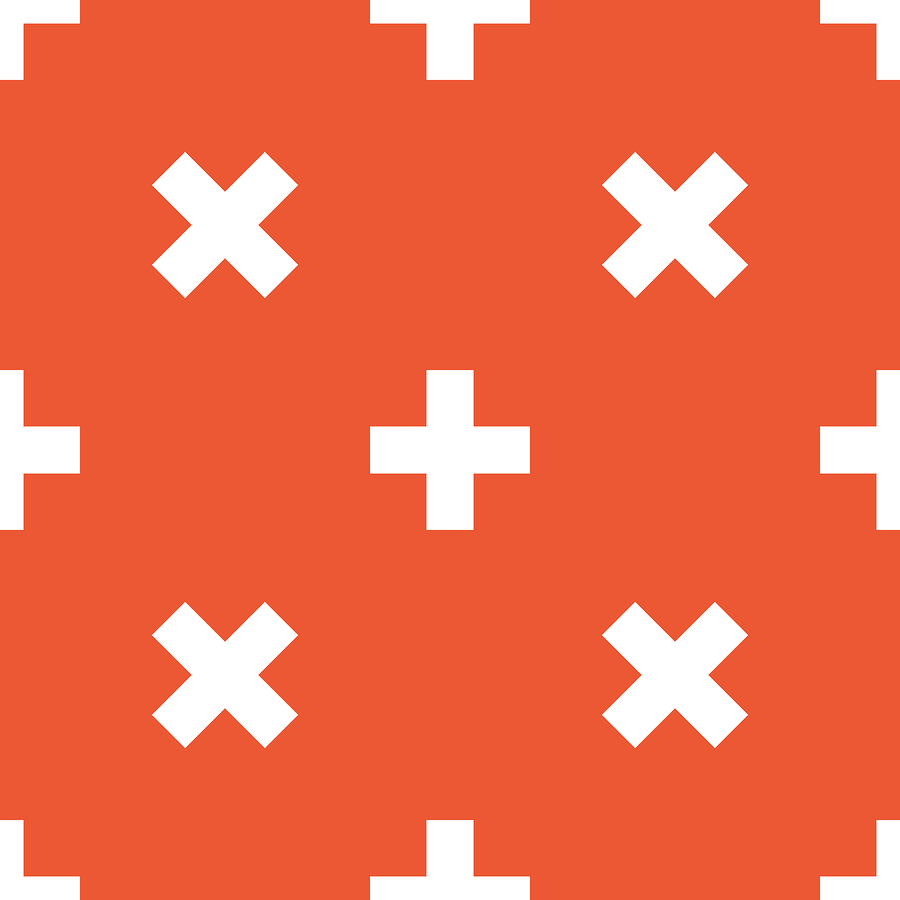 Orange plus pattern | Ylivdesign