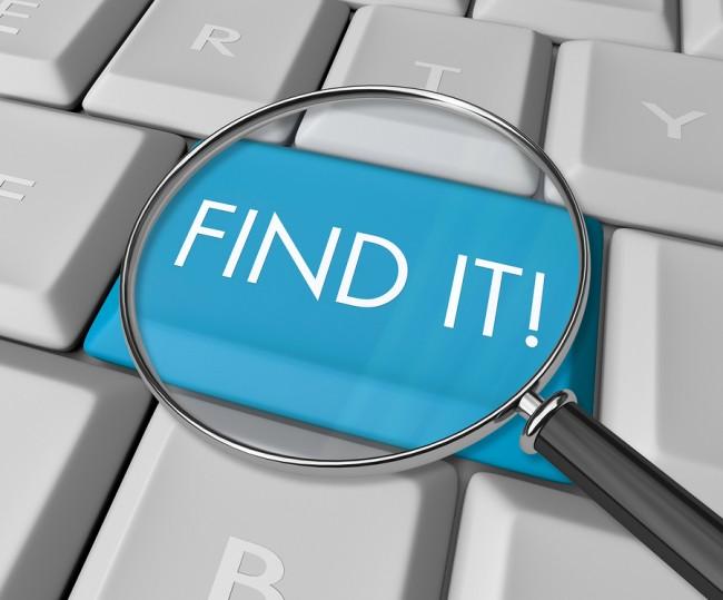 Find It Key on Computer Keyboard