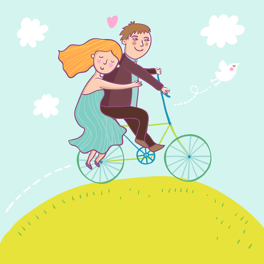 Couple Riding a Bicycle in Summer image ©smilewithjul
