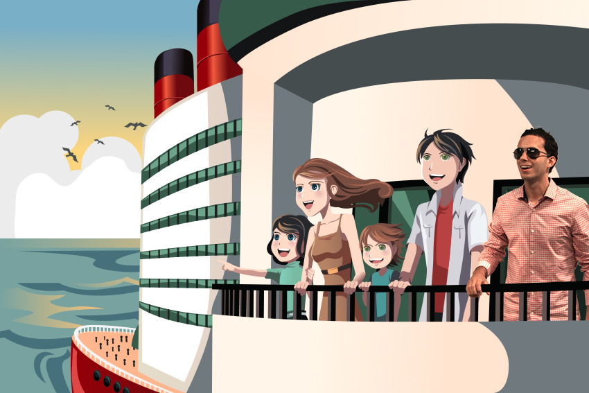 Frank is on a cruise ship enjoying the sites with the family he hopes will take him in.